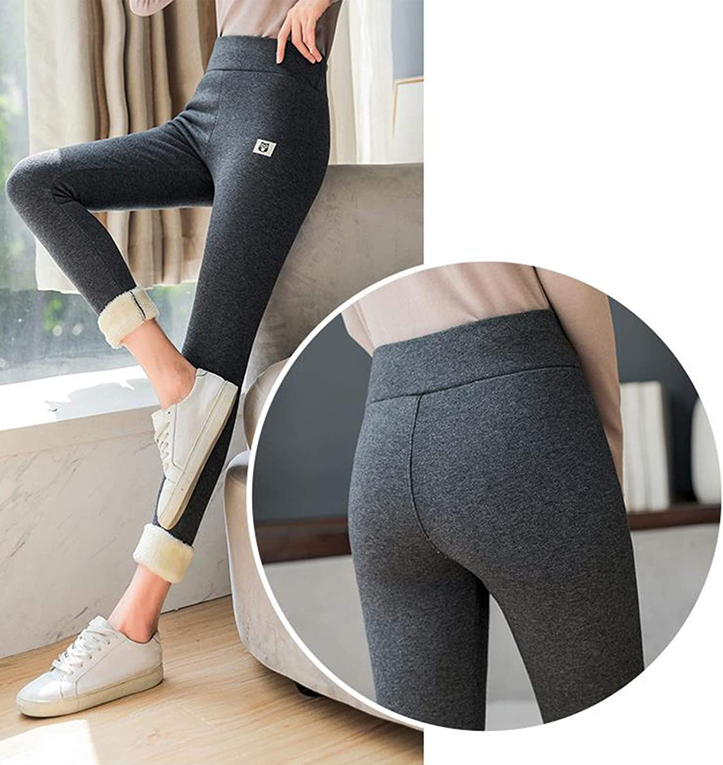 Thicken Skinny Thermal Fleece Lined Ankle-Length Trousers for Women Ultra-Heat Cashmere Leggings Womens High Waist Winter Warm Leggings