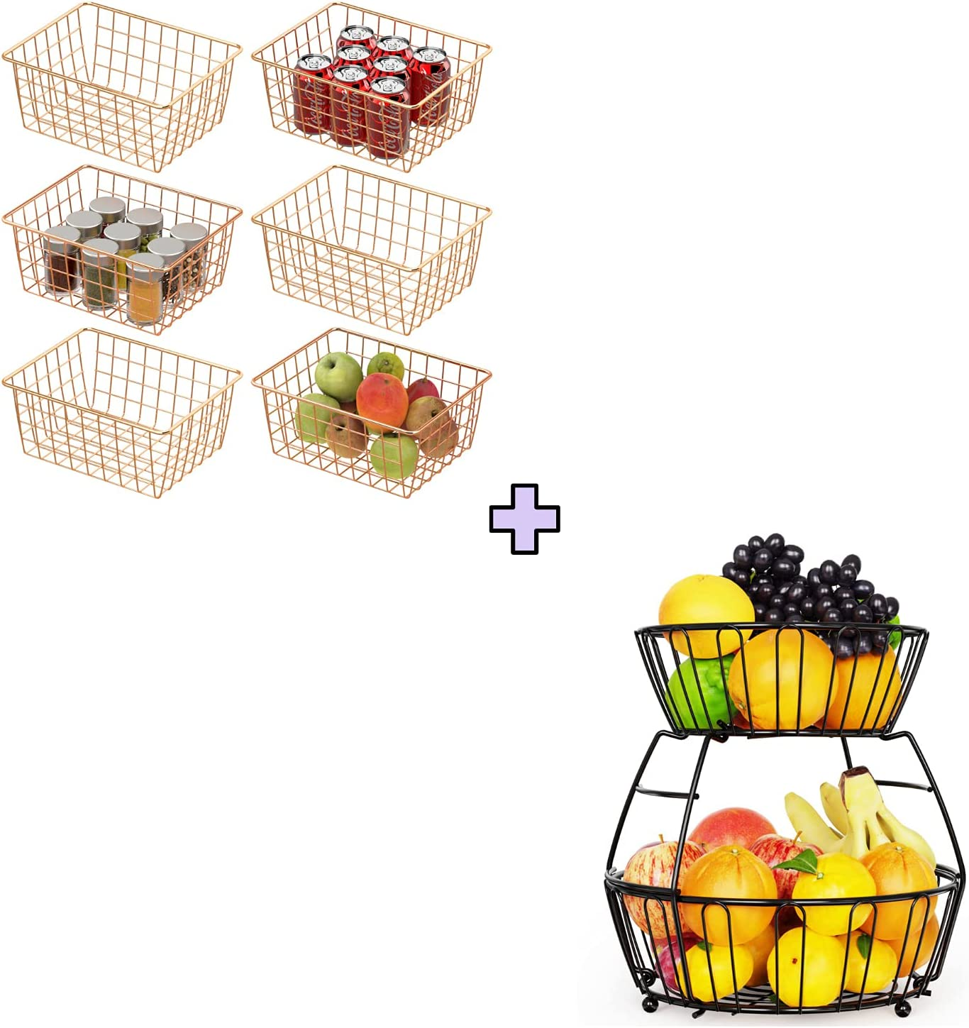 Wire Baskets Cambond Max Max 48% OFF 89% OFF 6 Pack B Metal Basket Durable Storage