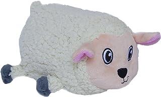 Fattiez Round Squeaky Plush Dog Toy by Outward Hound, Medium, Sheep