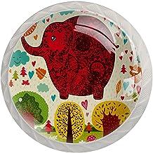 Lade handgrepen trekken ronde kristallen glazen kast knoppen keuken kast handvat,boom olifant
