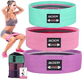 3 Levels Booty Bands Set for Legs and Butt,Fabric Resistance Bands Wide Exercise Workout Hip Bands Women, Fitness Loop Non...