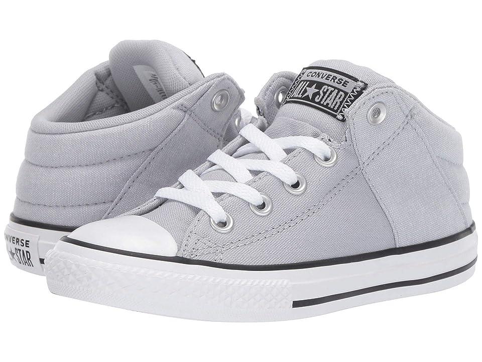 Converse Kids Chuck Taylor All Star Axel Street Urchin + Canvas Mid (Little Kid/Big Kid) (Wolf Grey/White/Black) Boys Shoes