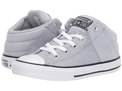 Converse Kids Chuck Taylor All Star Axel Street Urchin + Canvas Mid (Little Kid/Big Kid) (Wolf Grey/White/Black) Boys Shoes