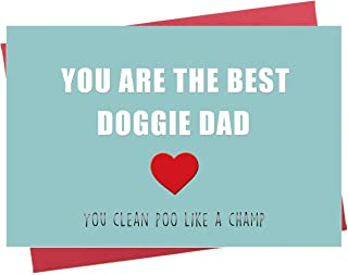 Funny Father's Day Card, You're The Best Doggie Dad, Fun Card for Dog Lover Dad