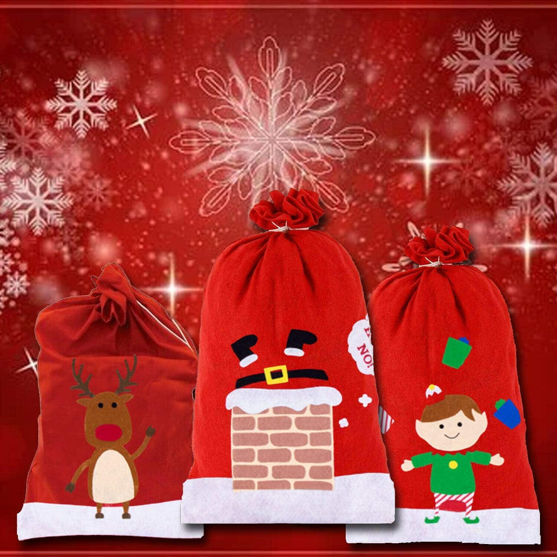 Lizzy Jumbo Red Christmas SANTA SACKS Father Xmas Gift Present Bag Stocking Toys Santa