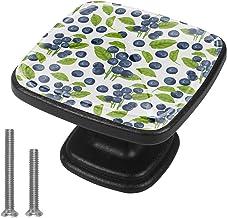 Vierkante kabinet knoppen keuken deur knoppen 4Pack-lade knoppen voor kast hardware bosbes naadloos patroon