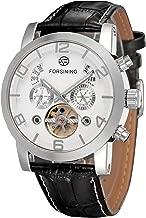 Forsining Men's Tourbillon Calendar Brand Automatic Movement Genuine Leather Strap Best Sales Wrist watches FSG165M3S3