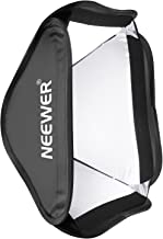Neewer Collapsible Softbox 24x24 inches/60x60 centimeters,Quickly Foldable Diffuser for Photography Speedlites Studio Flash Monolight Fit S-Type Bracket, Bowens, Elinchrom Mount(ONLY Softbox Included)