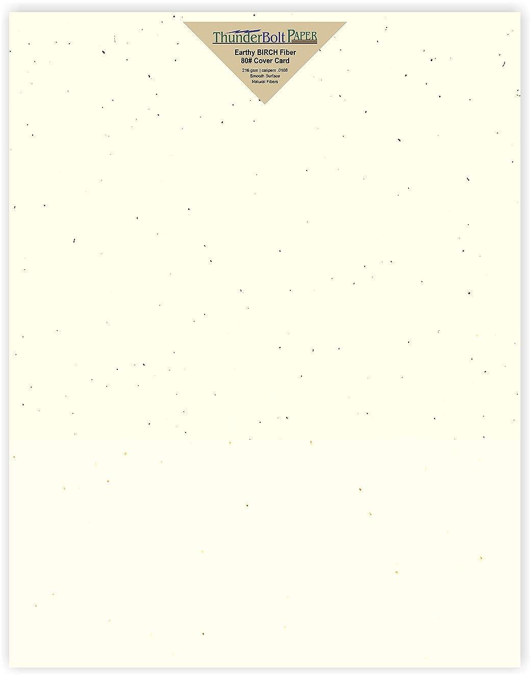 25 Earthy Birch Fiber 80# Cover Paper Sheets - 11
