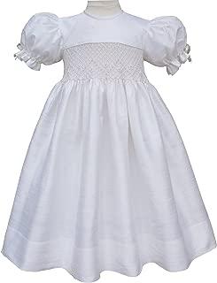 silk smocked dresses for infants