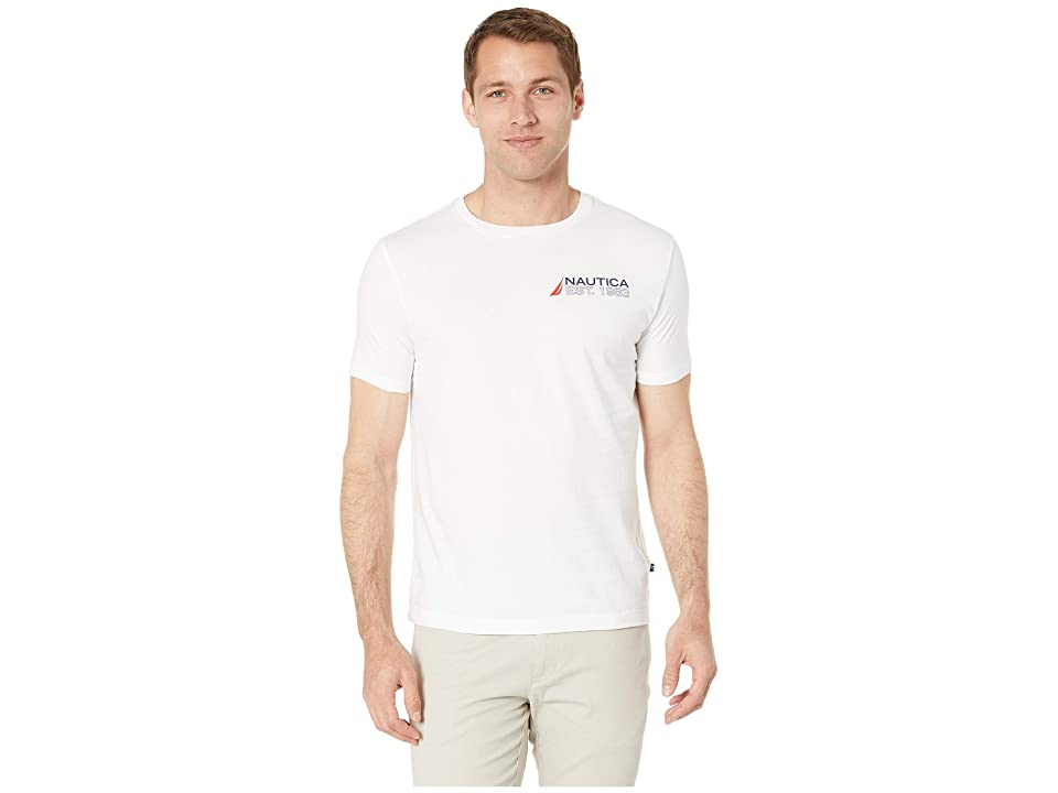 Nautica Flags T-Shirt (Bright White) Men