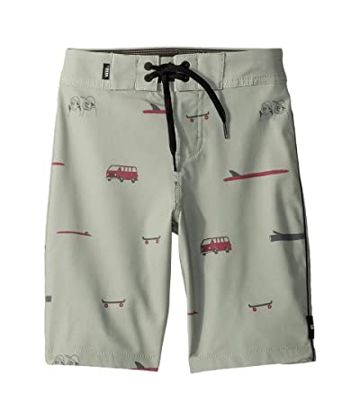 Vans Kids Vans X Yusuke Hanai Boardshorts (Little Kids/Big Kids) (Oil Green) Boy