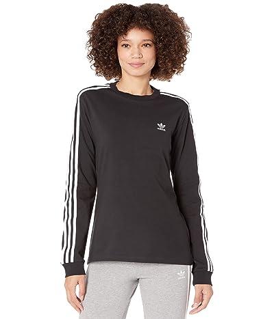 adidas Originals 3-Stripes Long Sleeve Tee (Black 1) Women
