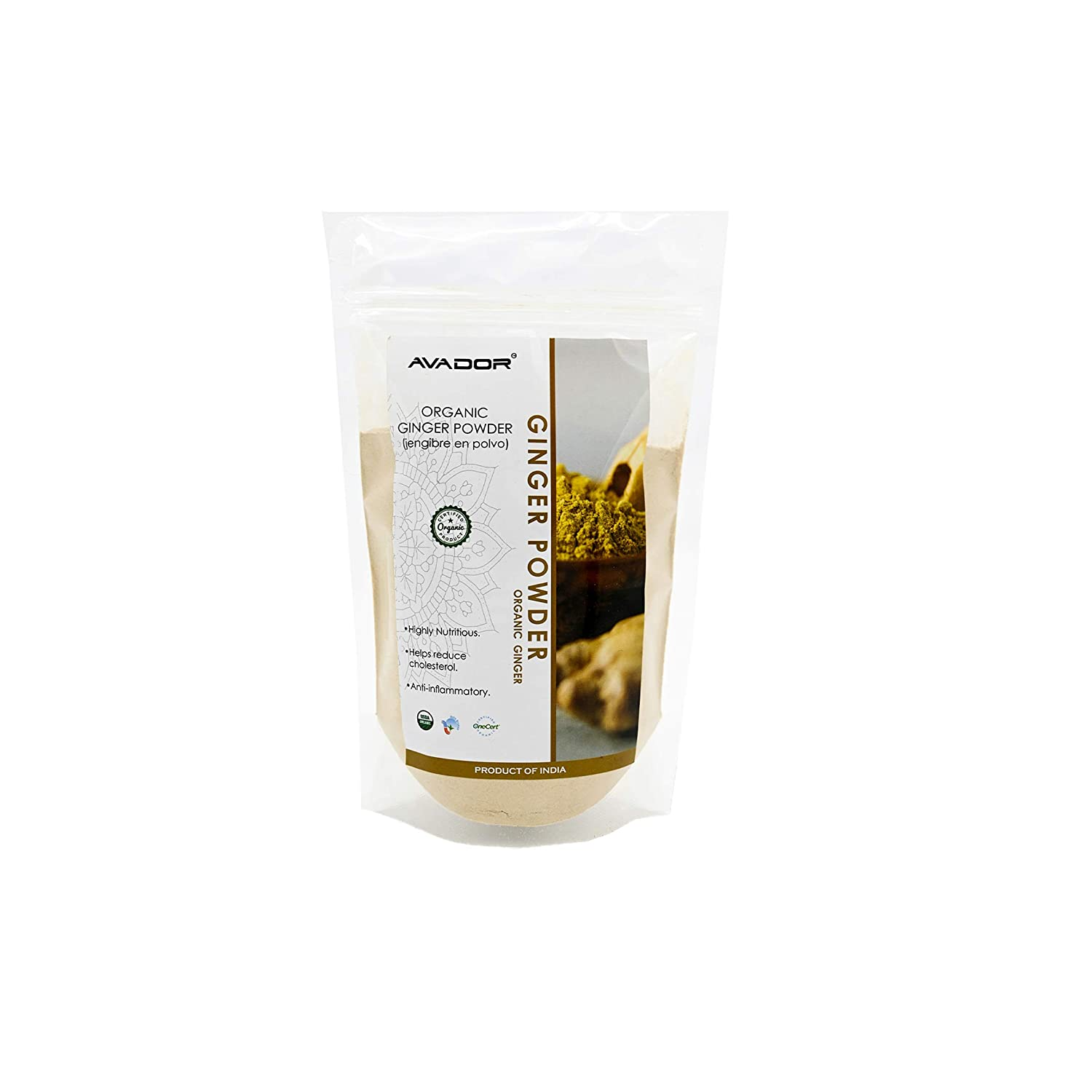 AVADOR USDA Manufacturer direct delivery Certified Organic All Ranking TOP3 Ind Powder Natural Ginger 1lbs