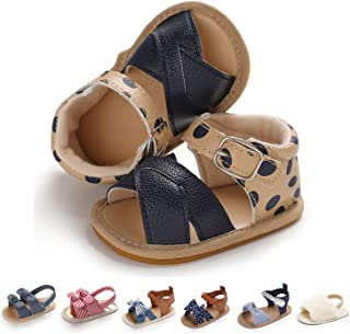 Soft Soled Infant Toddlers Crib Shoes Baby Sandals HONGTEYA Girls Summer Baby Gladiator Sandals