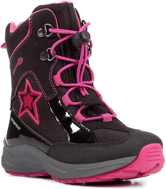 Geox Alaska Unisex - Kinder Stiefel Schwarz