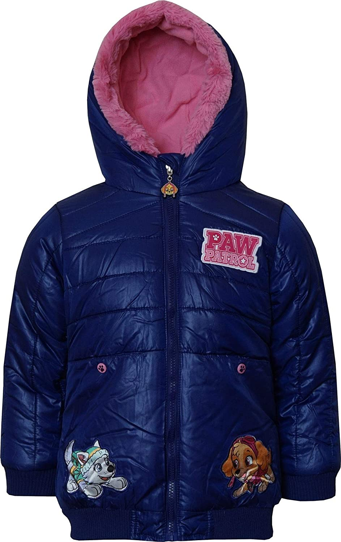 Paw Patrol Chaqueta de invierno con capucha para ni/ñas de 3 a 6 a/ños