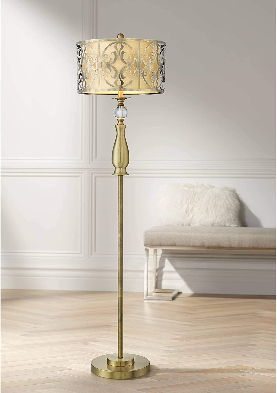 Doris Modern Selling and selling Contemporary Glam Financial sales sale Standing Floor Antique Lamp Brass
