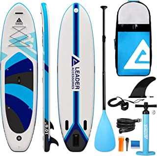 """Leader Accessories Inflatable Stand Up Paddle Board 10'6""""x33""""x6"""" ISup for All Skill Levels with SUP Accessories Including ..."""