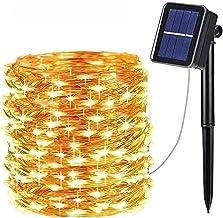 Solar Lichterkette Außen,OxyLED 300 LED Lichterkette 8 Modi 98ft Außenbeleuchtung Kupferdraht Wasserdicht IP65 ung und Tim...