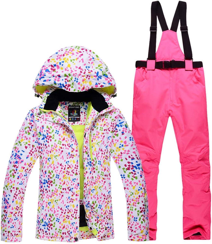Zjsjacket ski Suit Woman Skiing Suit Sets Snowboarding Clothes Waterproof Windproof Winter Snow Costumes Jackets +Bibs Pants Ski Suit Hot