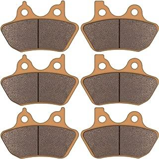 Zinger Brake Pads for Harley Davidson,2 Front + 1 Rear Replacement Severe Sintered V-Pads Brake Pads,Fits 00-07 Harley Davidson FLHT/FLHTi Electra Glide Standard &FLHTCU-I Electra Glide Ultra Classic