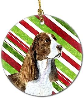 Caroline's Treasures SS4582-CO1 Springer Spaniel Candy Cane Holiday Christmas Ceramic Ornament, Multicolor