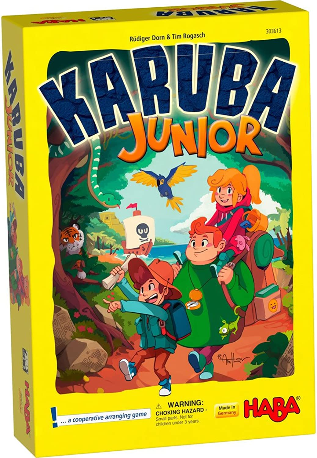 HABA Karuba Junior - A Cooperative Arranging Game Ages 4-8 (Made in Germany)