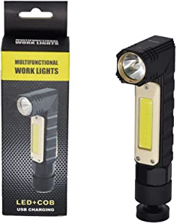 Multifunctional Work Light with LED & COB for Roadside Emergencies, Outdoor, Camping. USB Rechargeable with 5 Modes. Magne...