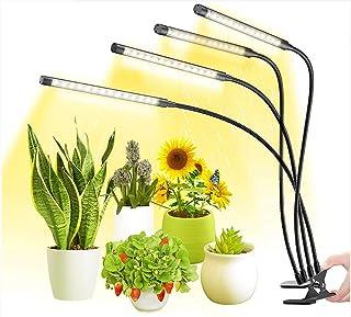 Lámpara de Planta, Lámpara LED Cultivo de 4 Cabezales de Espectro Luz, Mejora la luz de crecimiento con temporizador de automático 3/6/12 h, perfecto para plántulas Florecimiento de frutas
