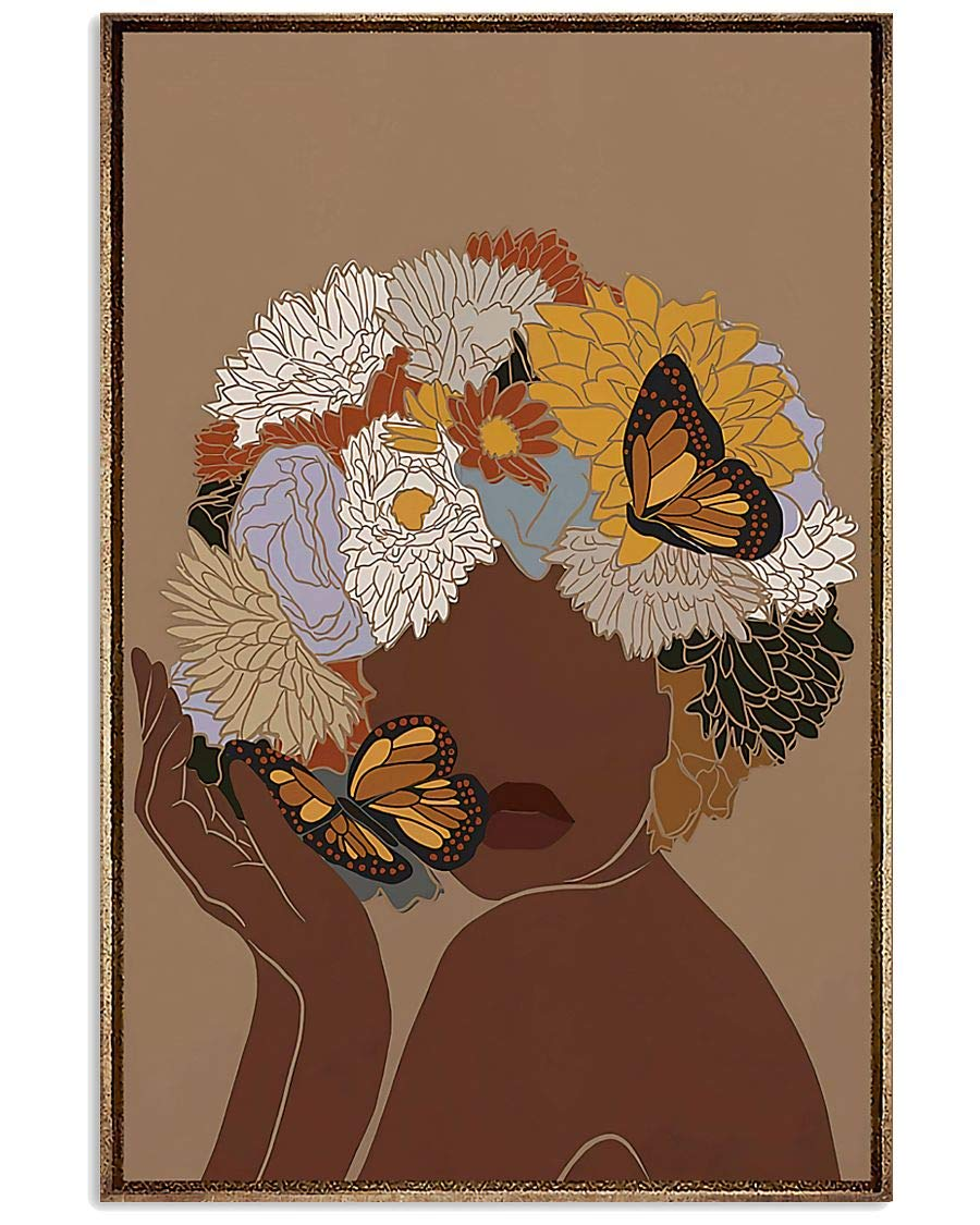 Beautiful Woman Butterfly Poster Super sale period limited Wall Bedroom Store Dec Bathroom Decor