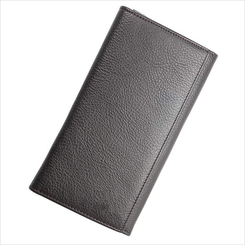 Modeklassiker Herren Leder Lange 2 Falten Wallet Multi Card Zip Zip Zip Clutch Münzfach (Farbe   Braun) B07PD2WYHW da4223