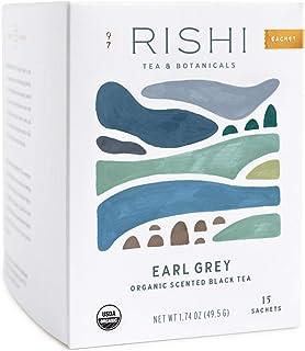Rishi Tea Earl Grey Herbal Tea | Immune Support, USDA Certified Organic, Caffeinated, Black Tea, Citrus Flavors for Taste ...