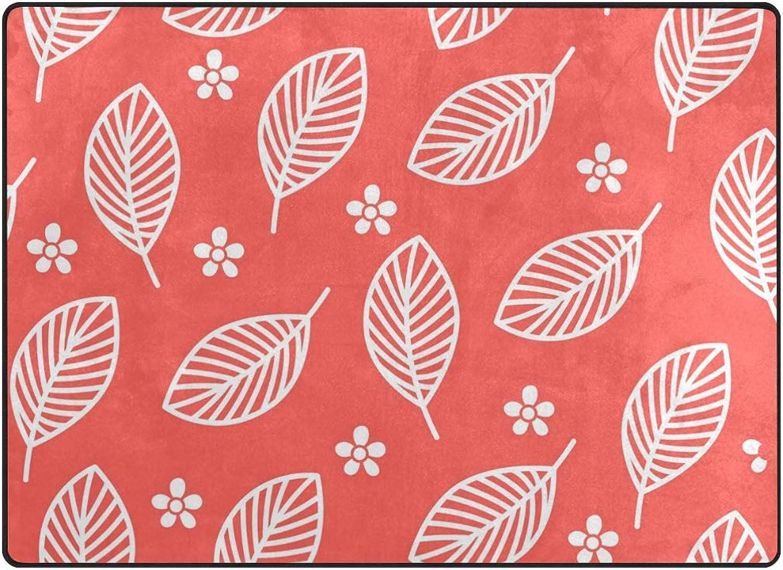 FAJRO White Tiny Flowers Big Leaves Polyester Entry Way Doormat Area Rug Multipattern Door Mat Floor Mats shoes Scraper Home Dec Anti-Slip Indoor Outdoor
