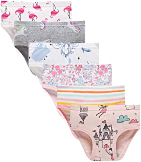 Baby Soft Cotton Underwear Little Girls'Briefs Toddler Undies (Pack of 6)