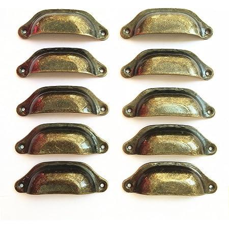 Zliger 12 Pezzi Maniglie Armadi Vintage Manopole Mobili Euro Maniglia Armadio Pomelli Porta Ceramica Maniglioni Cassetti per Cassetti Cucina Armadio