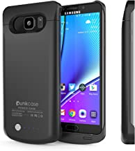 Galaxy Note 5 Battery Case, PunkJuice 4200mAH Fast Charging Power Bank W/Screen Protector   Integrated USB Port   IntelSwitch   Slim, Secure and Reliable   Designed for Samsung Galaxy Note 5 [Black]