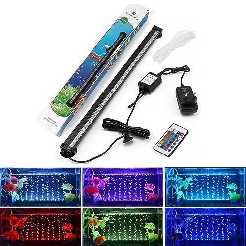 GreenSun LED Lighting 46cm RGB 27Led étanche IP68 Luminaires D'éclairage Aquarium Tube Fish Tank Lumière Submersible + 24 Boutons De Contrôle à Distance RC/Led Aquarium