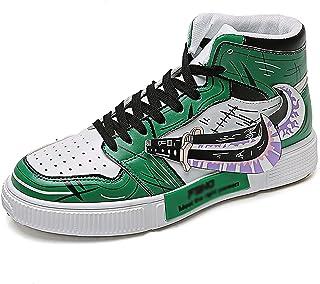 Naruto Chaussures en Toile Printemps et Automne Chaussures en Toile Homme et Femme Dessin animé Impression Chaussures Bask...