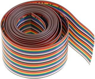 Eowpower 2M 40Pin 40Way Rainbow Color Flat Ribbon Cable IDC Wire Cable