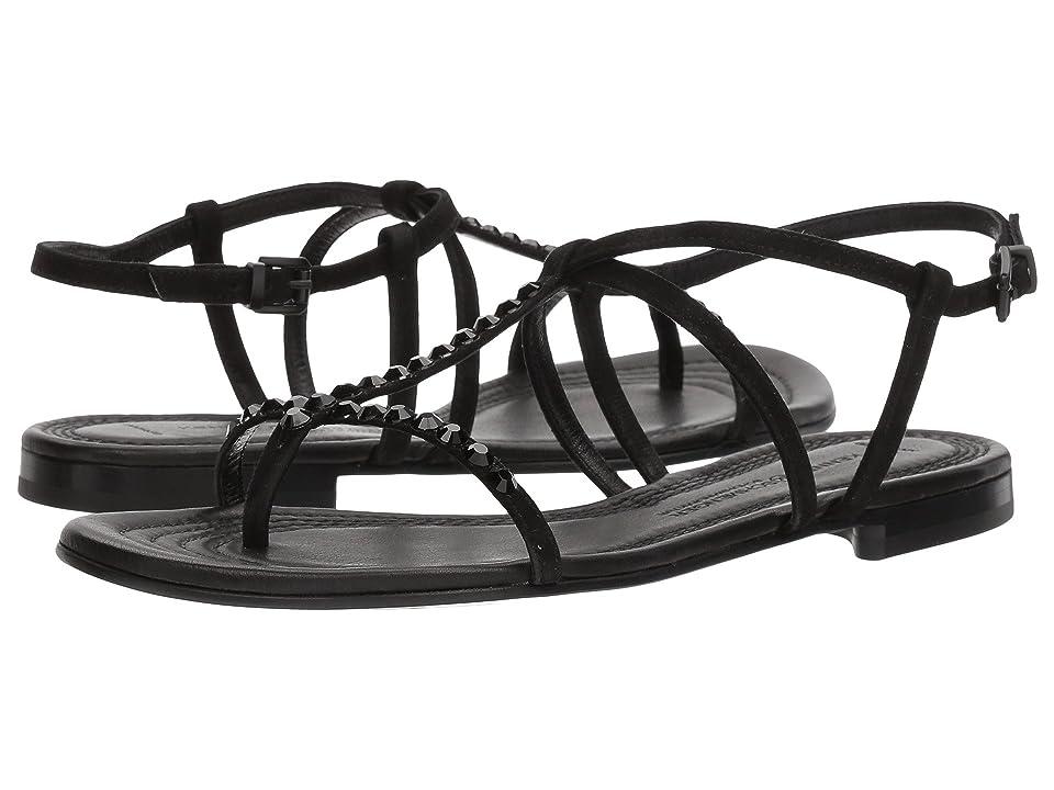 Kennel & Schmenger Elle Strap Sandal (Black Suede/Black) Women