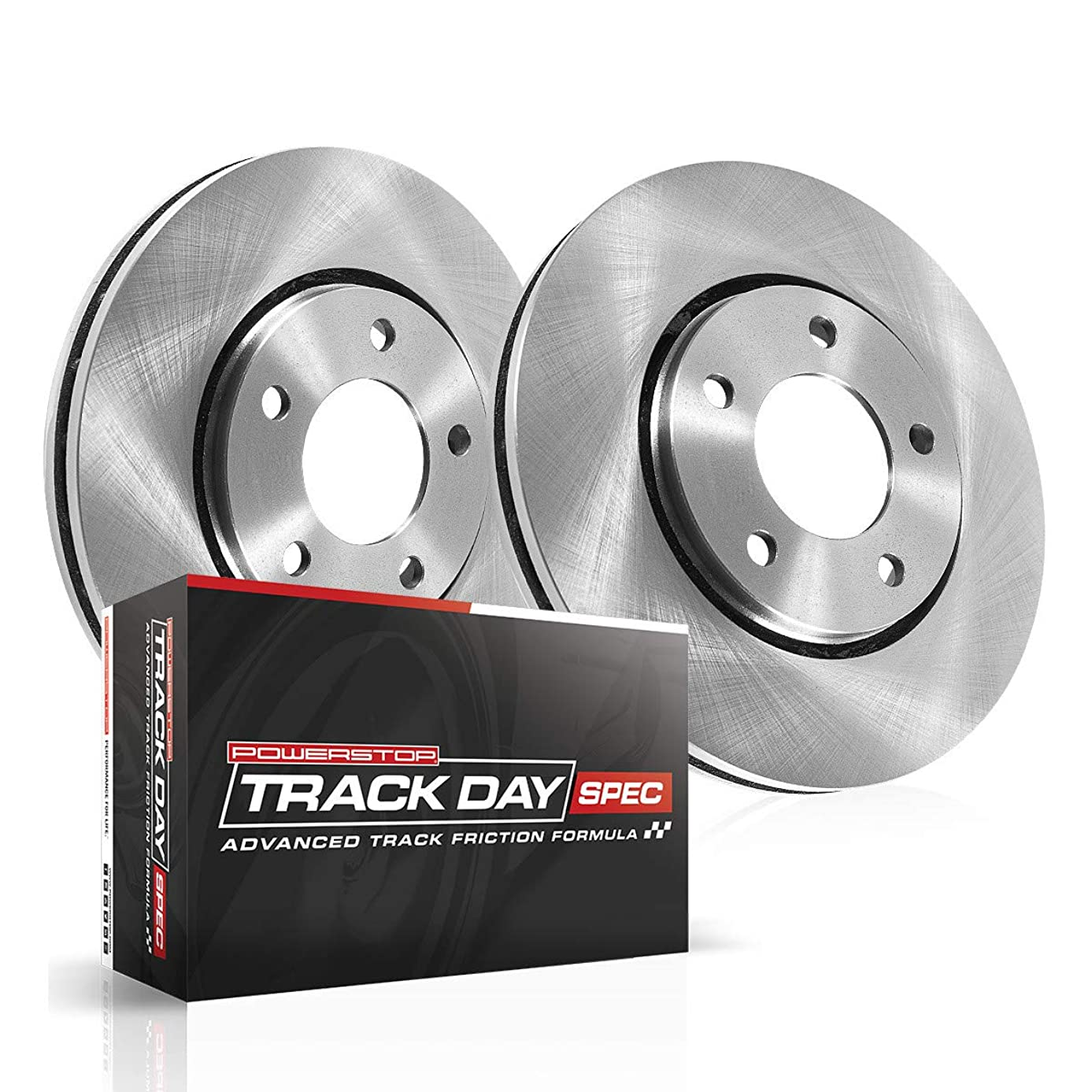 Power Stop TDSK6281 Track Day Spec Rear Kit Rotors and Ceramic Brake Pads