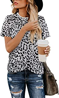 white shirt with leopard print