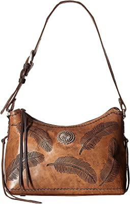 Sacred Bird Zip Top Shoulder Bag