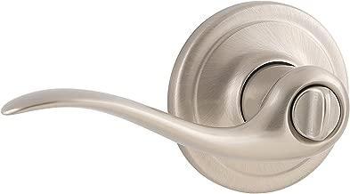 Weiser Lock GLA331 TC15 B 6LS1R1 Toluca Privacy Lever, Satin Nickel