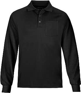 Men's Outdoor Big & Tall Long Sleeve Moisture Wicking Performance Golf Polo Shirt