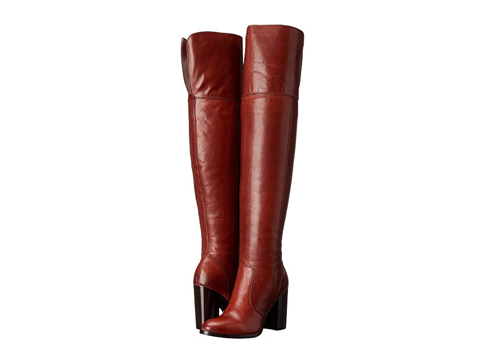 Frye Claude Over-The-Knee (Redwood Smooth Vintage Leather) Women