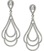 Nina - Micro Pave Swirl Earrings