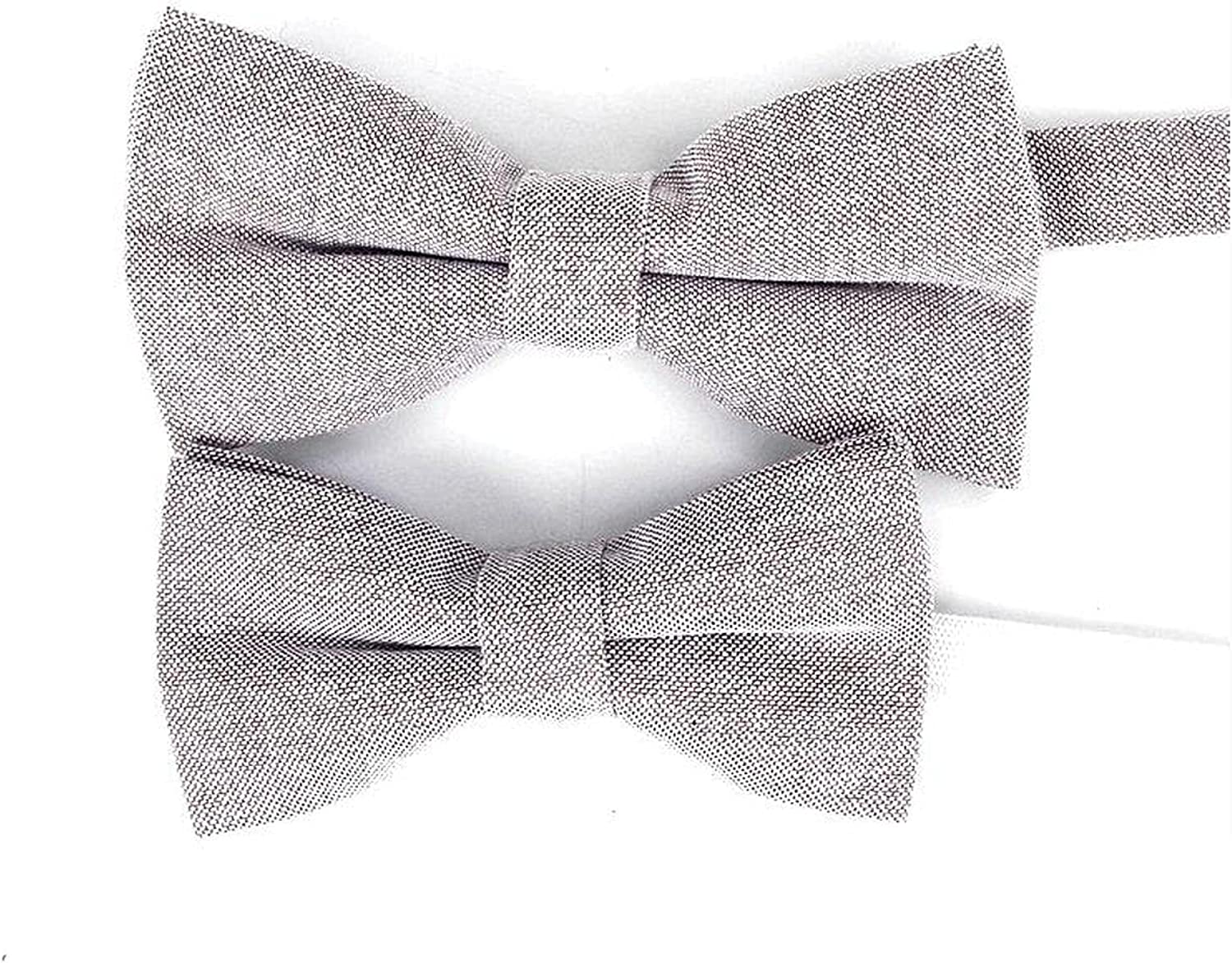 Lovely Solid Colorful Parent Child Bowtie Sets 100% Cotton Kids Pet Men Blue Red Pink Casual Bow Tie Gift Accessory