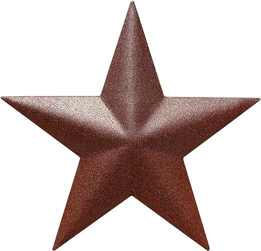 谷仓之星 - 外德克萨斯州星星艺术质朴复古西部乡村家庭农舍墙壁装饰(12.7 厘米)